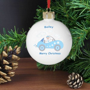 Little Monkey in Car Bauble
