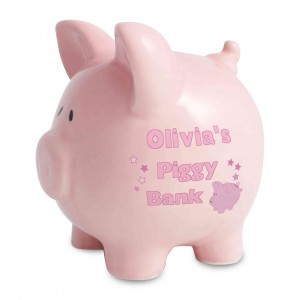Pink Ceramic Piggy Money Box