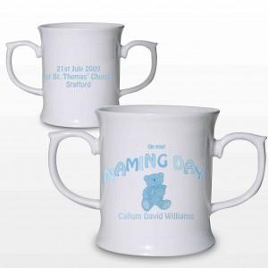 Teddy Blue Naming Day Loving Mug
