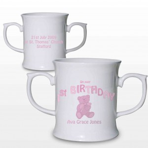 Teddy Pink 1st Birthday Loving Mug
