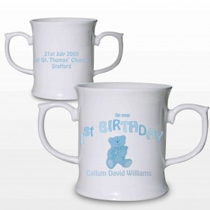 Teddy Blue 1st Birthday Loving Mug