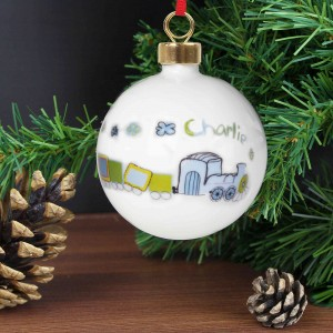 Patchwork Train Bauble