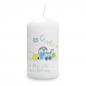 Patchwork Train Candle