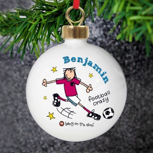 Bang on the Door Football Crazy Bauble