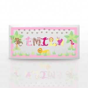Animal Alphabet Girls Door Plaque