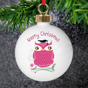 Christmas Owl Tree Decoration