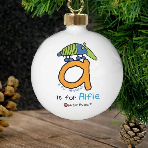 Bang On The Door Animal Alphabet Boys Bauble