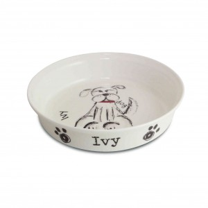 Scribble Dog Bowl