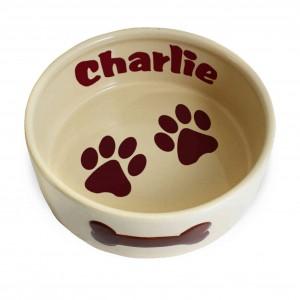 Large Brown Paws Dog Bowl