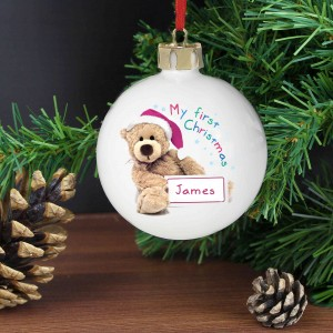 Teddy 1st Christmas Bauble