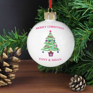 Merry Christmas Tree Bauble