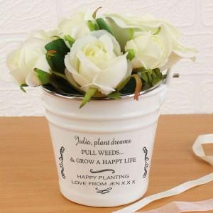 Scroll Porcelain Bucket