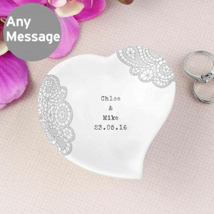 Dainty Lace Ceramic Ring Dish