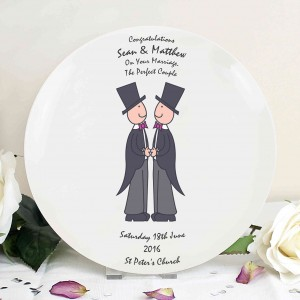 Male Wedding & Civil Partnership Plate