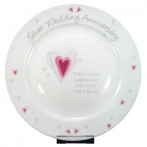 Silver Anniversary Plate