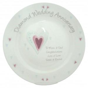 Diamond Anniversary Plate