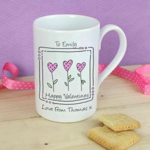 3 Hearts Message Mug