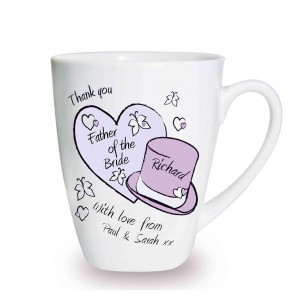 Butterfly Hats Wedding Latte Mug