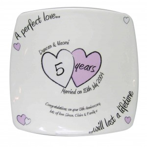A Perfect Love Anniversary Plate