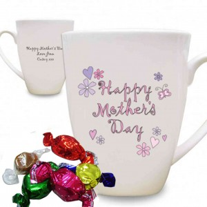 Flowers and Butterflies Happy Mothers Day Latte Mug
