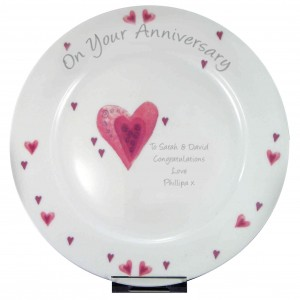 Hearts Anniversary Plate