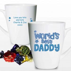 Patterns Worlds Best Blue Latte Mug