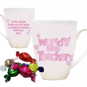 Pink World's Best Teacher Mug