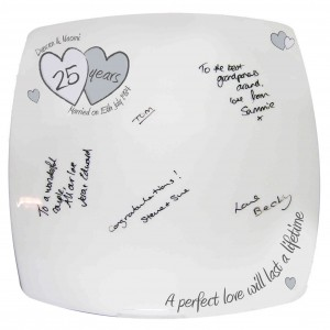 A Perfect Love Silver Anniversay Message Plate