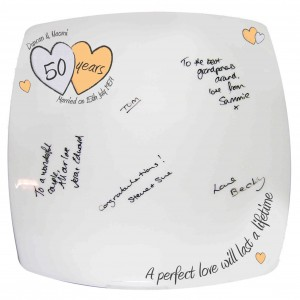 A Perfect Love Golden Anniversary Message Plate