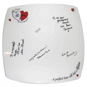 A Perfect Love Ruby Anniversary Message Plate