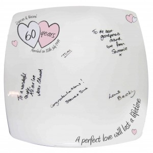 A Perfect Love Diamond Anniversary Message Plate