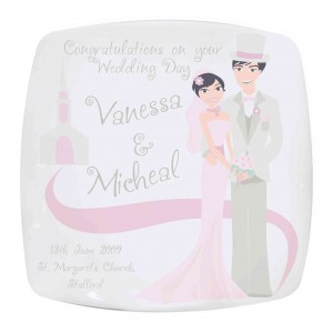 Fabulous Wedding Couple Plate