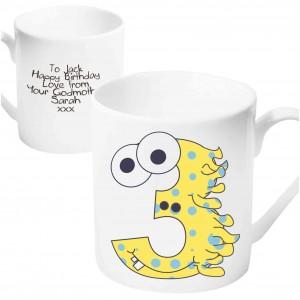 Monster Age Mug - Age 3