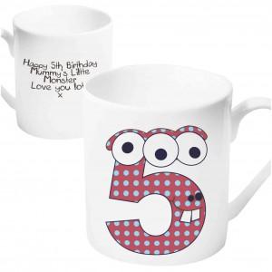 Monster Age Mug - Age 5