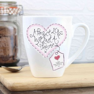 Stitch Heart Perfect Love Latte Mug