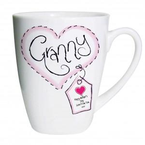 Heart Stitch Granny Latte Mug