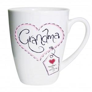 Heart Stitch Grandma Latte Mug