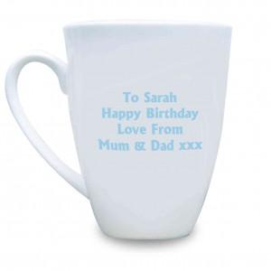 Blue Union Jack Latte Mug