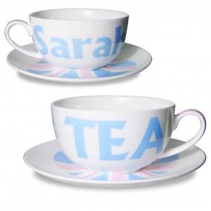 Blue Union Jack Teacup & Saucer
