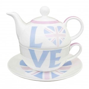 Blue Union Jack Tea for One