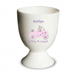 Little Princess in Car Egg Cup