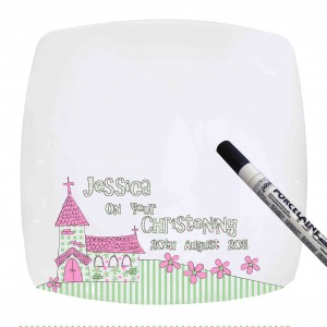 Pink Church Message Plate