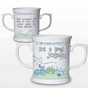 Whimsical Train It's a Boy Loving Mug