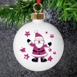 Spotty Santa Bauble