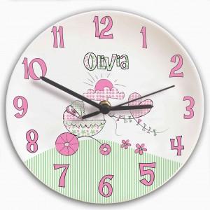 Whimsical Pram Clock