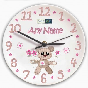 Cotton Zoo Tweed the Bear Girls Clock