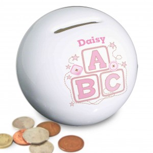 Pink ABC Money Box
