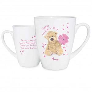 Teddy Flower Latte Mug