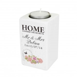 Shabby Chic Ceramic Tea Light Candle Holder