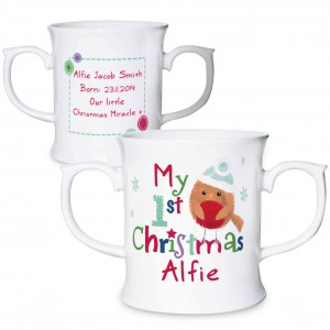 Felt Stitch Robin 'My 1st Christmas' Loving Mug